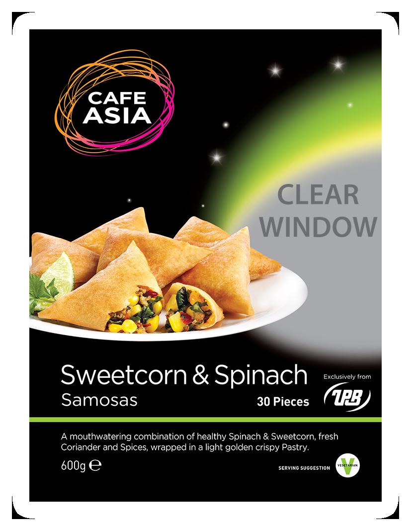 Sweencorn & Spinach Samosa